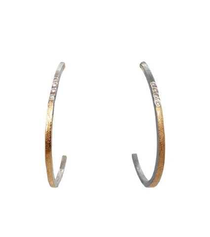 Kate Maller Medium Hoop Dreams Diamond Hoops