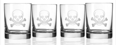 Skull & Bones Double Old Fashion Glasses