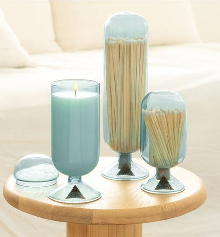 Jasmine and Lotus Glass Candle Cloche