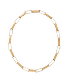 Julie Cohn Paper Chain Bronze Link Necklace