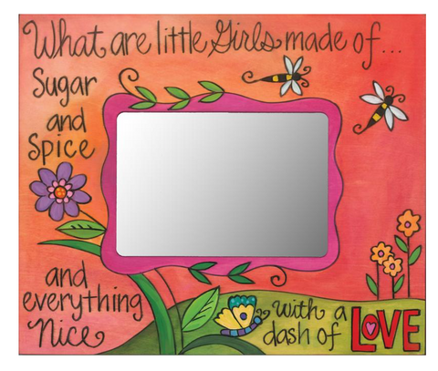 "Sincerely, Sticks ""Girly Girl"" Picture Frame"