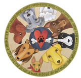 "Sincerely, Sticks ""Life with Dogs"" Lazy Susan"