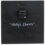 "Sincerely, Sticks ""Holly's Chairs"" Plaque"