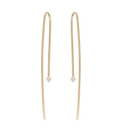 Zoe Chicco 14k Wire Threader Diamond Earring