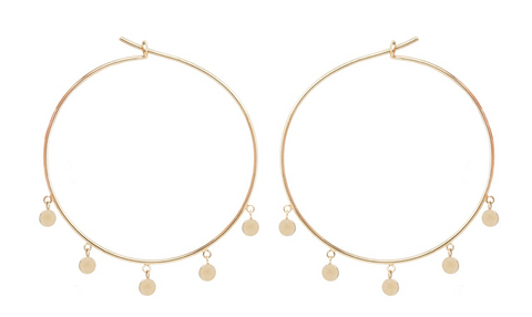 Zoe Chicco 14k 'Disco Disc' Hoops