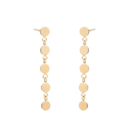 Zoe Chicco 14k 'Disco Disc' Drop Earrings