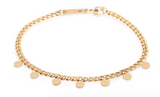 Zoe Chicco 'Disco Disc' Curb Chain Bracelet