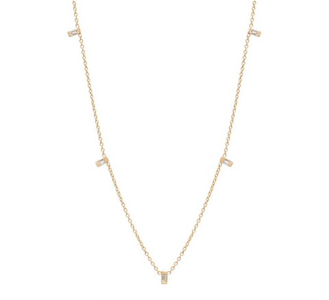Zoe Chicco 14k Floating Baguette Layering Necklace