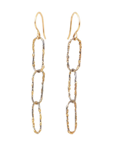 Kate Maller Dusted Chain Link Earrings