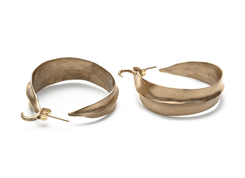 Julie Cohn Leaf Hoop Earrings