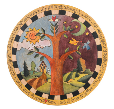 Sticks 'Tree of Life' Lazy Susan