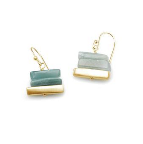 Philippa Roberts Aquamarine Stacked Earring - Vermeil