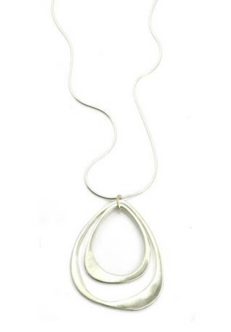 Philippa Roberts Double Open Drop Necklace - Silver