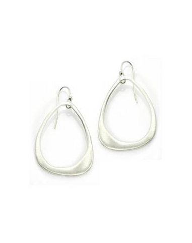 Philippa Roberts Small Open Drop Earring - Silver