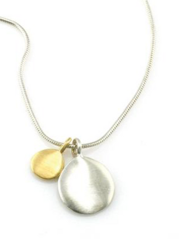 Philippa Roberts Two-Tone Double Discs Necklace