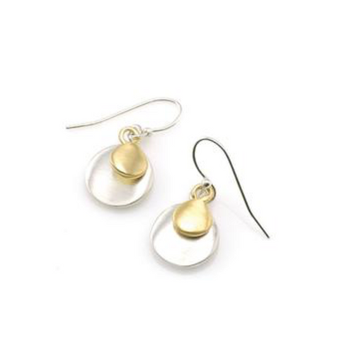 Philippa Roberts Two-Tone Double Discs Earring