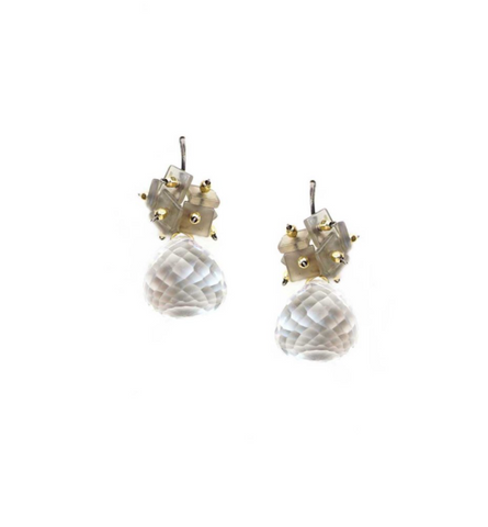 Calliope Faceted Quartz Drop Earring