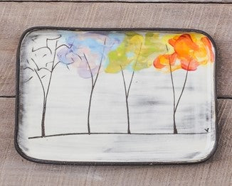 Four Seasons Rectangle Plate