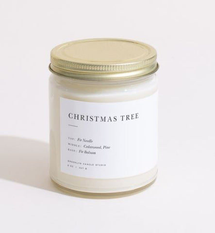 Brooklyn Candle Studio Christmas Tree Minimalist Candle