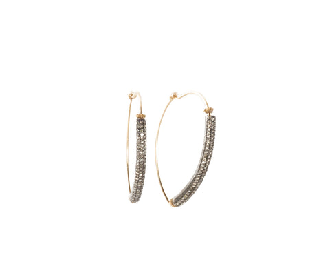 Dana Kellin Fine Pave Diamond Threader Hoop