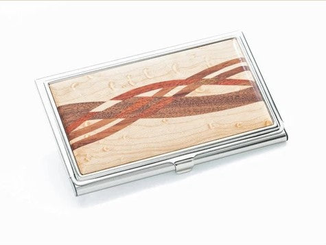 Birdseye Maple Inlaid Business Card Case