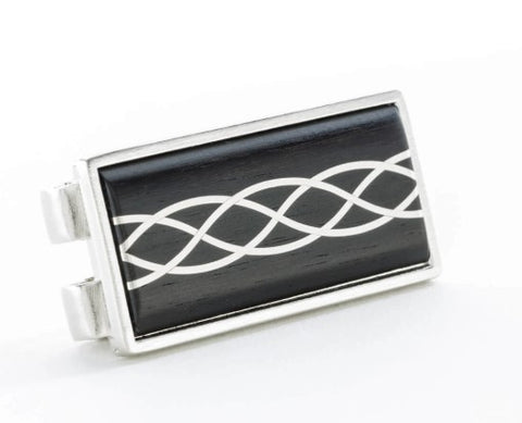 Ebony and and Silver Money Clip