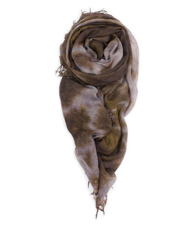 Fig & Bella Cashmere Scarf - Ash/Chestnut Crushed
