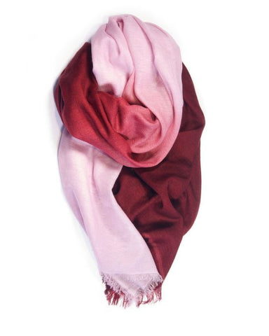 Fig & Bella Cashmere Scarf - Rose Dipped