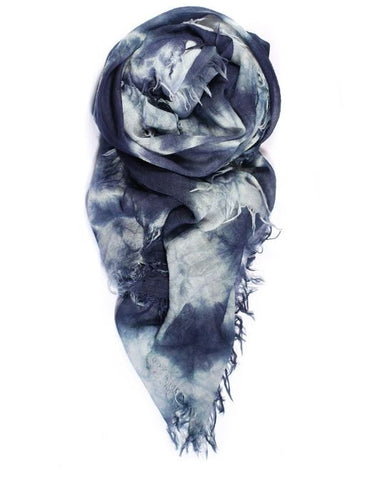 Fig & Bella Cashmere Scarf - Slate Blue Crushed