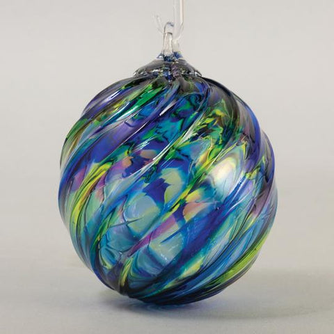 Blue Mosaic Twist Ornament