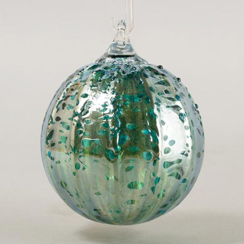 Teal Luster Ornament