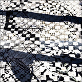 Route 50 in B & W Scarf by Isabelle Gougenheim