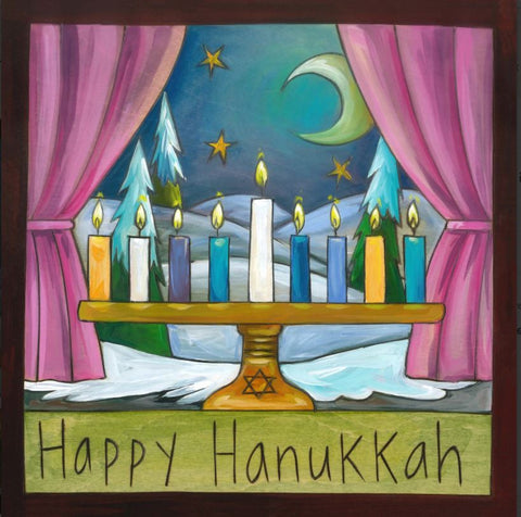 Sincerely Sticks Happy Hanukkah Plaque