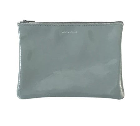 Tracey Tanner Pebble Patent Leather Medium Zip Pouch