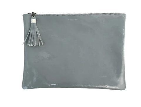 Tracey Tanner Patent Leather Pebble XL Zip Pouch