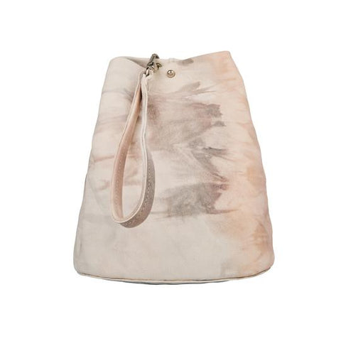 Tracey Tanner Peach Tie Dye Leather Bucket Wristlet