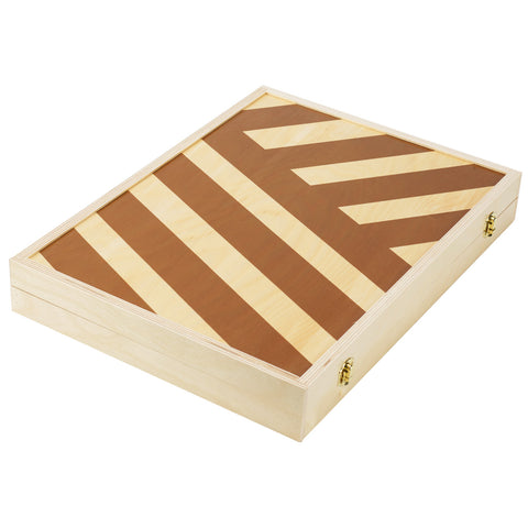 Tabletop Backgammon in Alexander Stripe