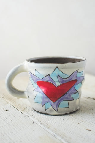 Cool Flaming Heart Mug