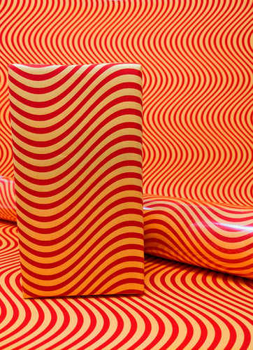 Orange Waves Wrapping Paper