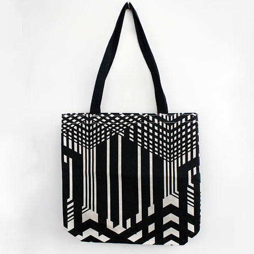 Maze-A-Tron Black Handle Tote Bag