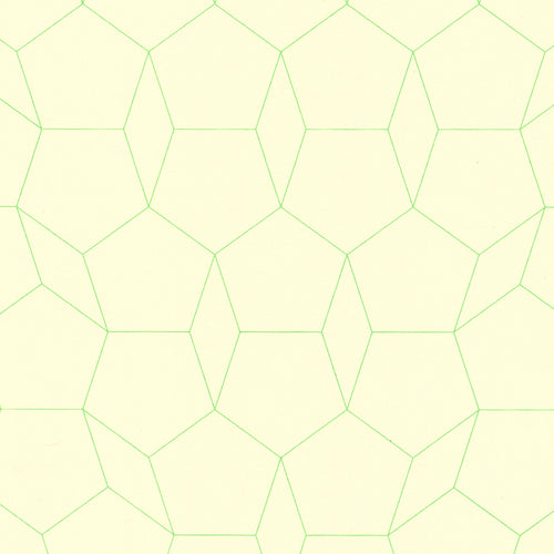 Green Pentagon Graph Paper