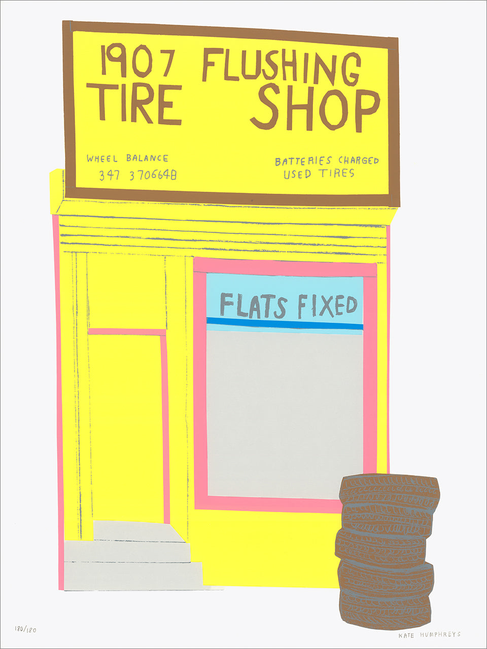 Kate Humphreys: Flushing Tire Shop