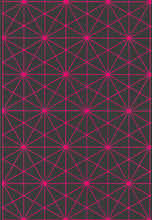 Pink Hexagon Graph Wrapping Paper