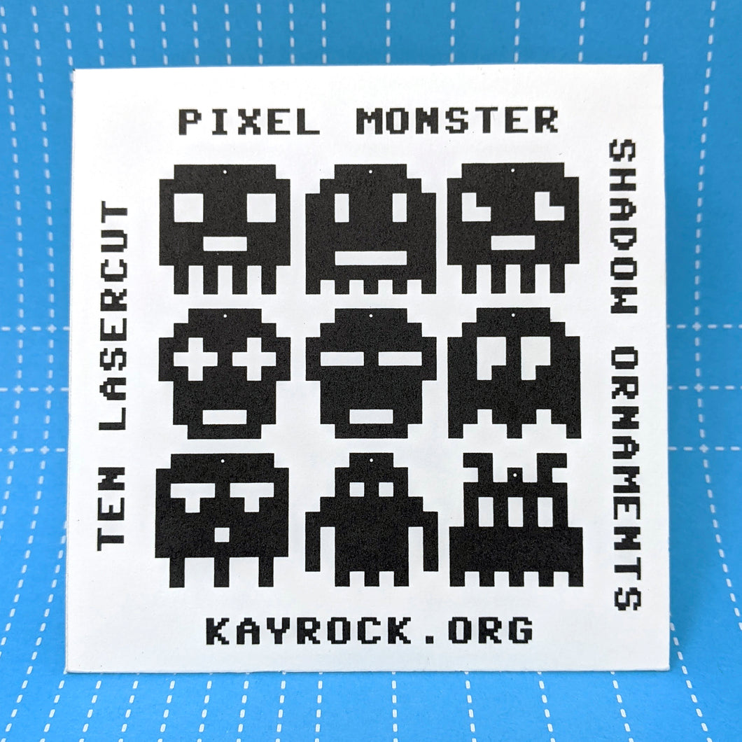Pixel Monster Shadow Ornaments