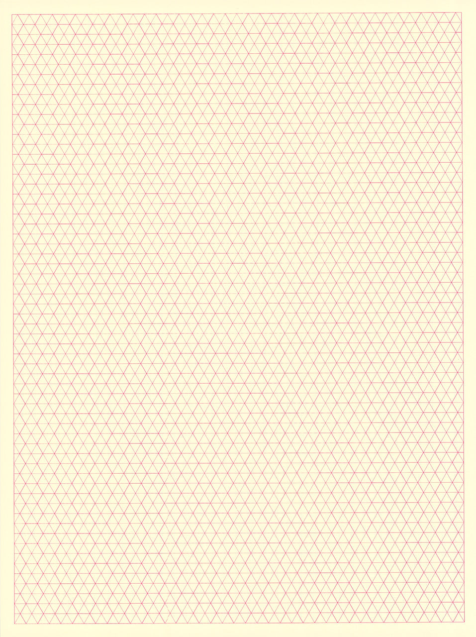 Pink Hexagon Graph Paper