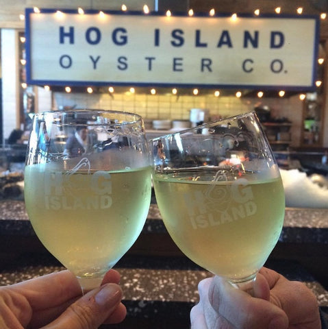 Crisp white wines with oysters at Hog Island in Oxbow Market, Napa