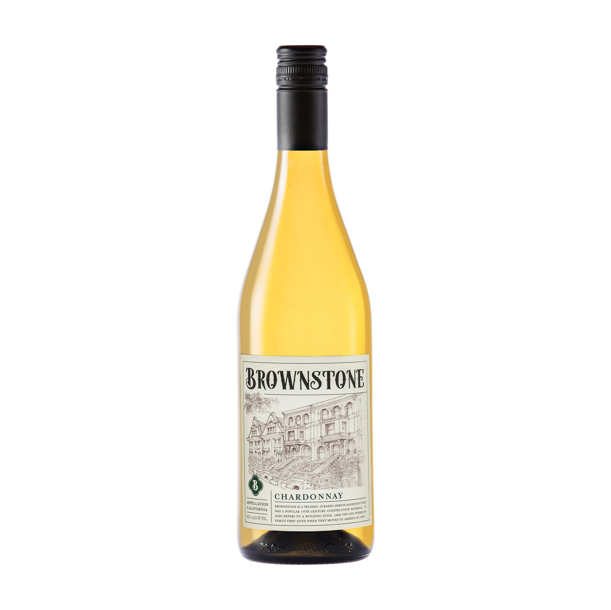 White Wine Brownstone Chardonnay 2018 (4397781483543)
