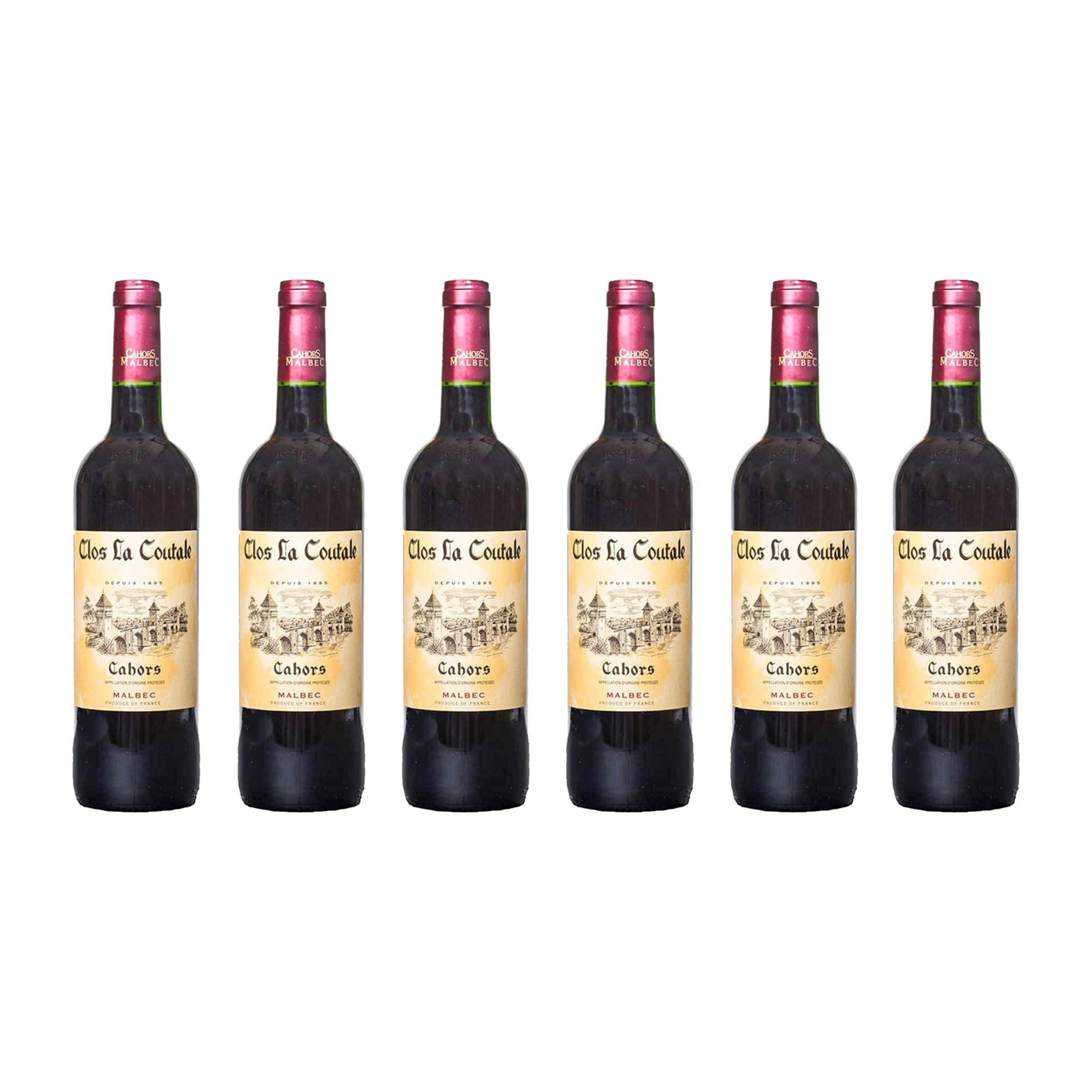 Red Wine Cahors Clos La Coutale 2018 (Case of 6 bottles)