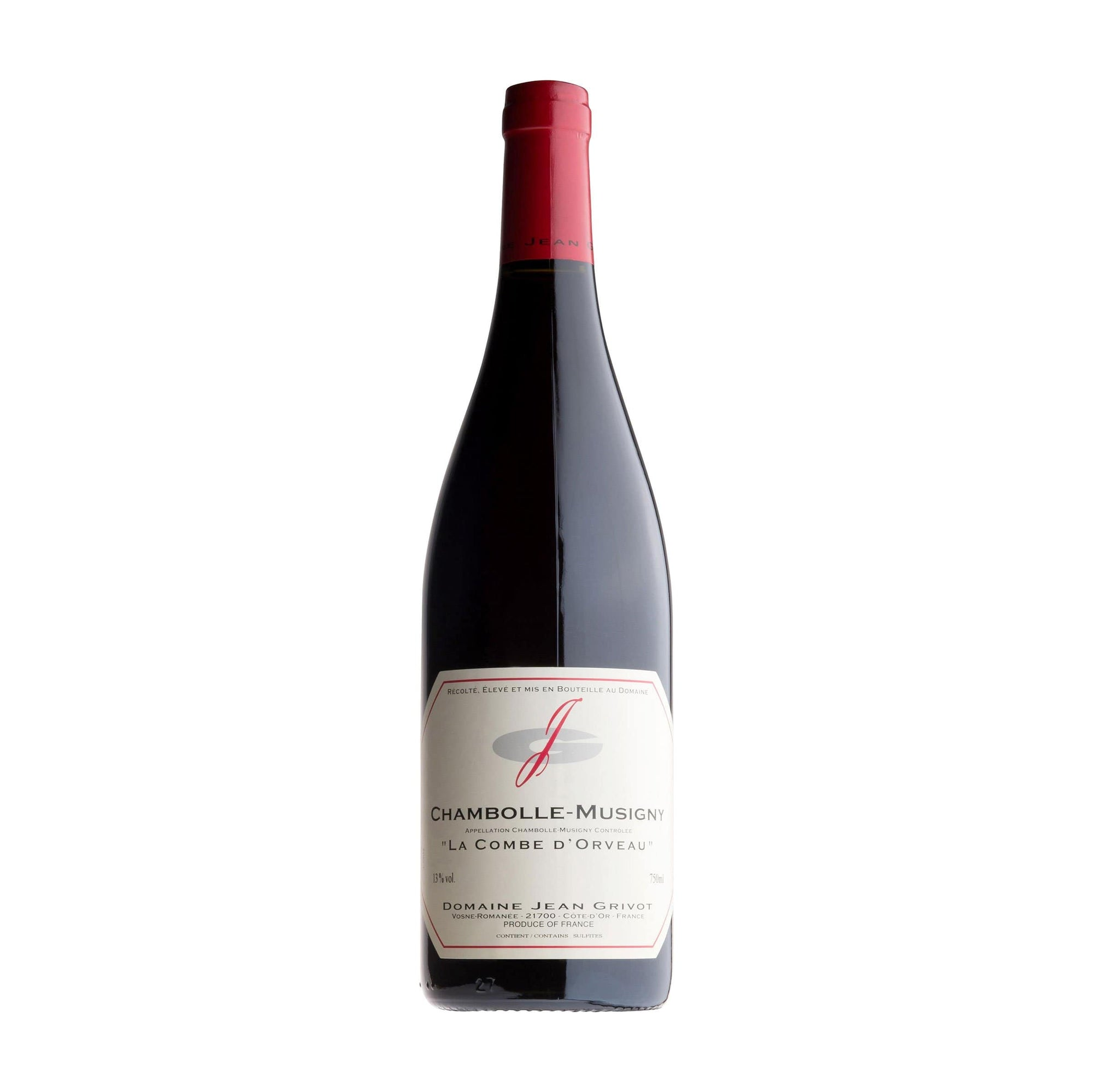 Red Wine Chambolle-Musigny Combe d'Orveau Jean Grivot 2018