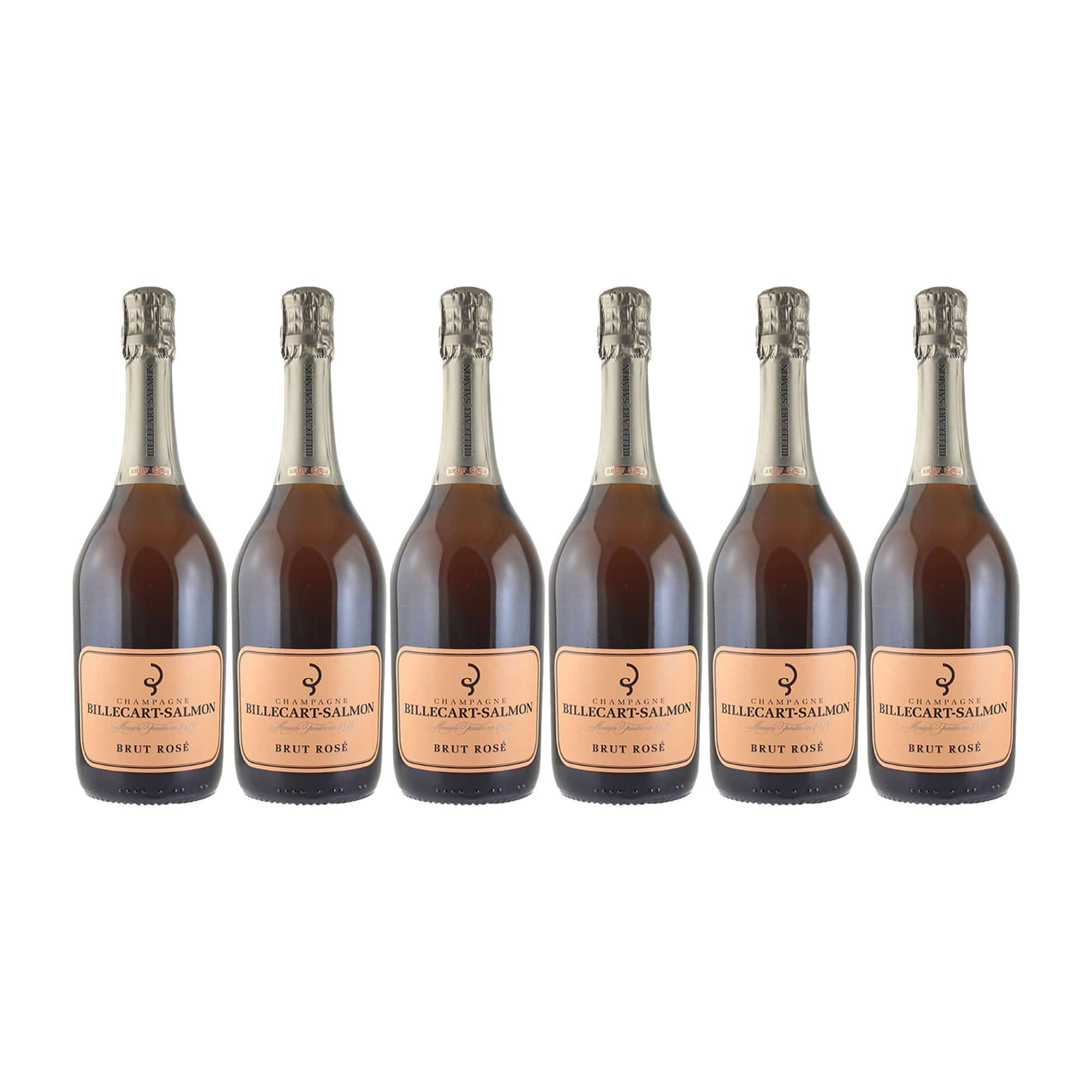 Sparkling Champagne Billecart-Salmon Brut Rosé NV (Case of 6 bottles)